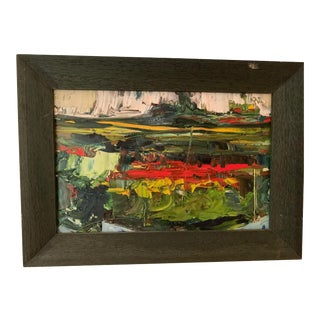 Framed Abstract Oil Painting by Sonja Perdija For Sale