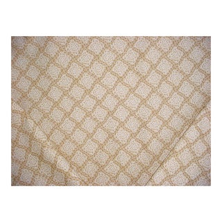 Scalamandre Dq 00011946 Beckford Fonthill Beige Print Upholstery Fabric - 4-1/2y For Sale