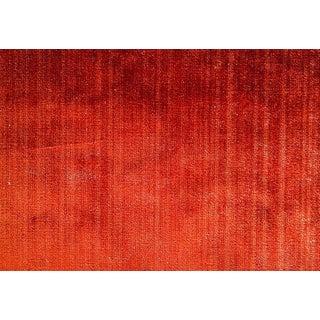 Robert Allen Burnt Orange Cayenne Spice Strie Velvet Upholstery Fabric Bty