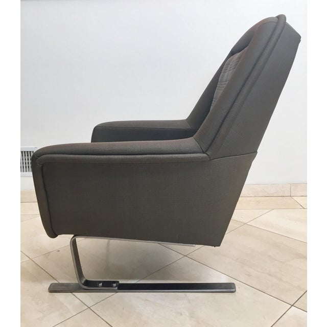 1970s Modernist Cantilever Club Lounge Chairs by Augusto Bozzi - a Pair For Sale In Los Angeles - Image 6 of 12