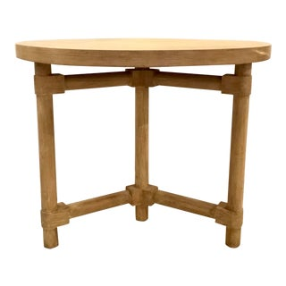 Mr and Mrs Howard Modern Cerused Oak Finished Fairchild Center Table For Sale