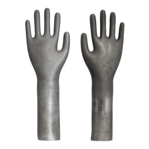 Vintage Industrial Metal Glove Mold - Pair For Sale