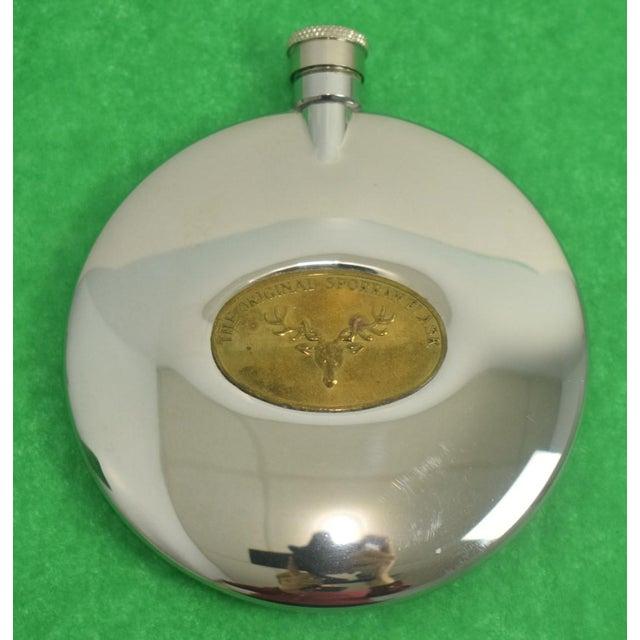 1980s Original Sporran Stag Chrome Flask For Sale - Image 5 of 5