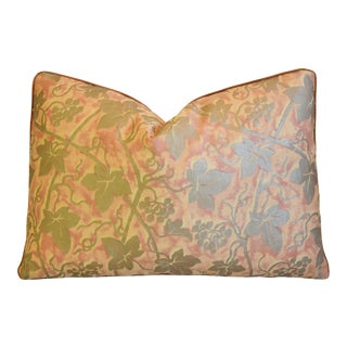 "Italian Mariano Fortuny Edera Feather/Down Pillow 20"" X 14"" For Sale"