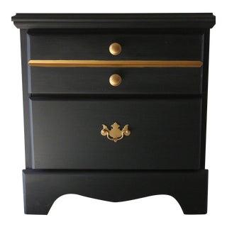 Denim Blue 2-Drawer Side Table