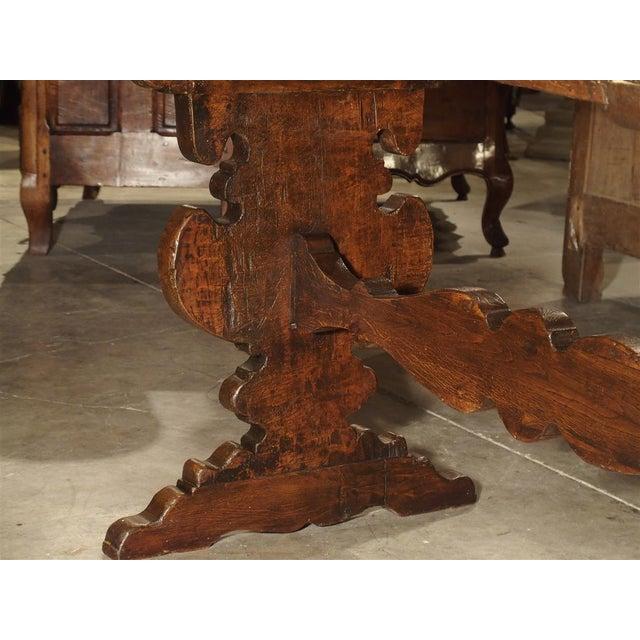 Italian 17th Century Italian Walnut Wood Table For Sale - Image 3 of 13