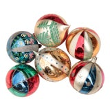 Image of Giant Vintage Blown Glass Ornaments - Set of 6 For Sale