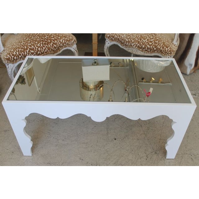White Lacquered Coffee Table - Image 3 of 7
