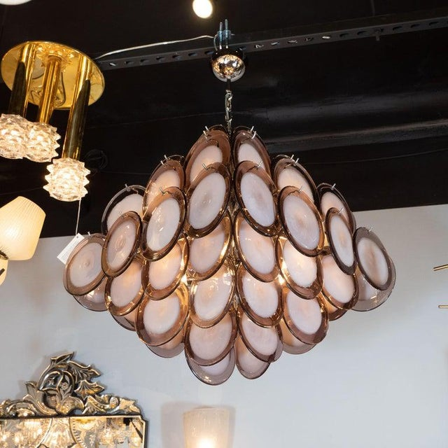 This elegant chandelier was realized in Murano, Italy- the island off the coast of Venice renowned for centuries for their...
