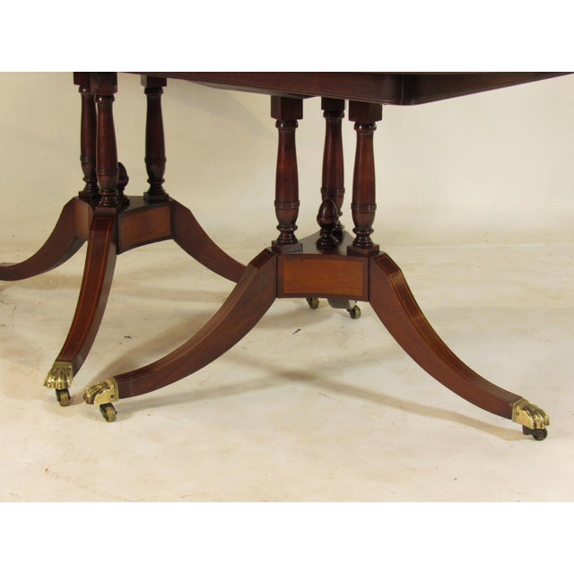 Early 20th Century 20th Century Regency Style Inlaid Dining Table For Sale - Image 5 of 11