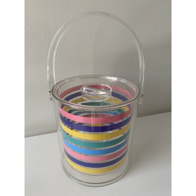 1980s Striped Ice Bucket For Sale - Image 11 of 11