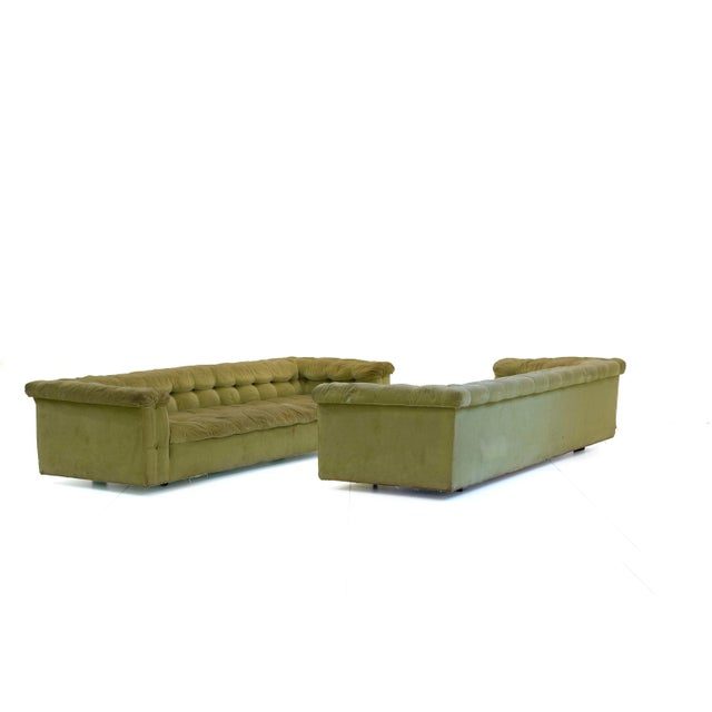 1950s Mid-Century Modern Edward Wormley for Dunbar Party Sofas - a Pair For Sale In Chicago - Image 6 of 6