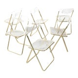 Image of Vintage Italian Folding Chairs For Sale