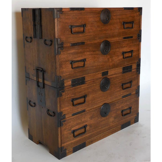 Early 19th Century 19th Century Japanese Shop Tansu, Chest of Drawers For Sale - Image 5 of 13