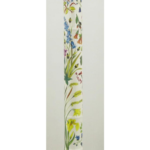Pair Italian Ceramic Floral Detailed Table Lamps For Sale - Image 4 of 8