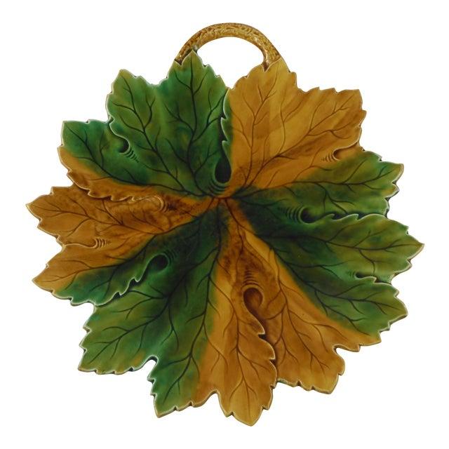 Majolica Leaf Platter - Image 1 of 3