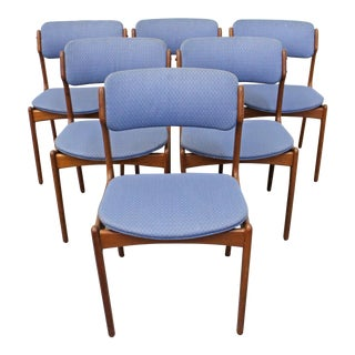 Set of 6 Mid-Century Danish Modern Erik Buch Mobler Teak Dining Chairs For Sale