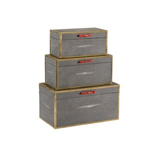 Wildwood Lamps Cousteau Gray Boxes - Set of 3