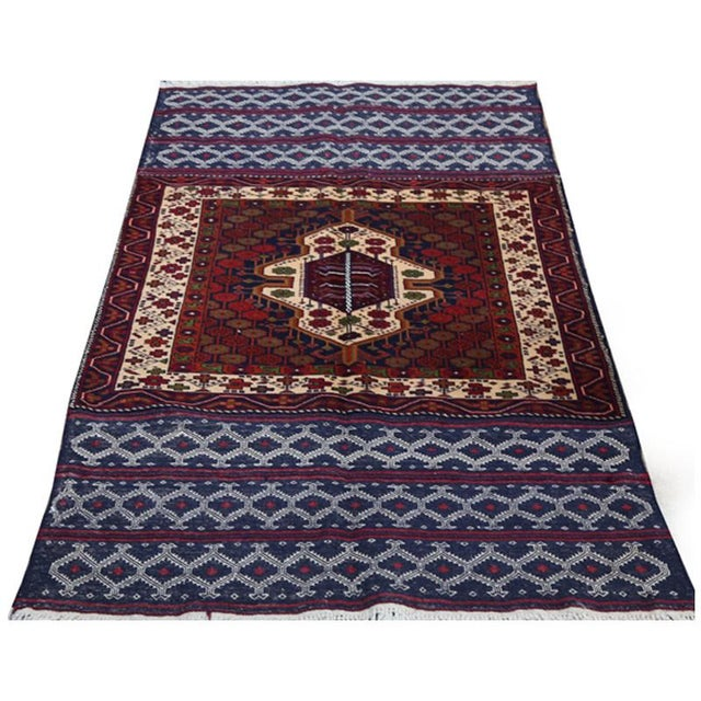 Abstract Persian Handwoven Ghochan Tribal Wool Rug - 3x5 For Sale - Image 3 of 5