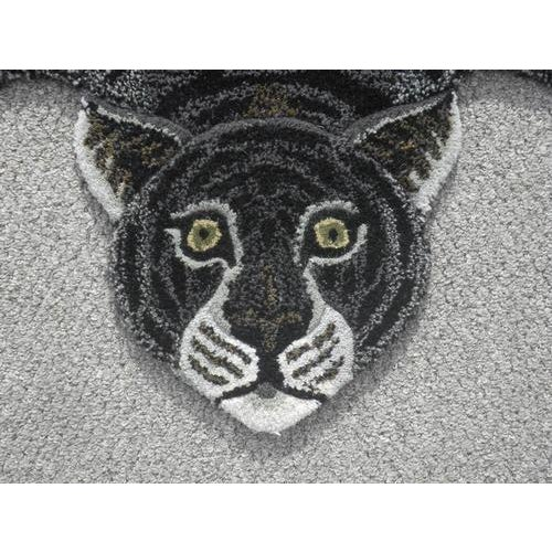 Modern Hand-Tufted Tiger Skin Shape Wool Rug - 3' x 5' - Image 4 of 6