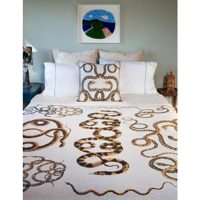 Contemporary Serpents Cashmere Pillow For Sale - Image 3 of 4
