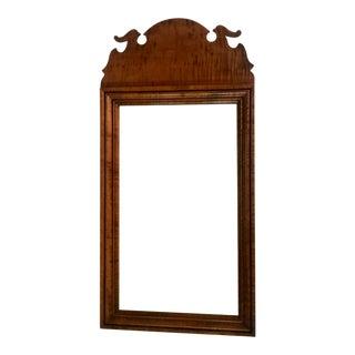 D.R.Dimes Tiger Maple Queen Anne Bird Mirror For Sale