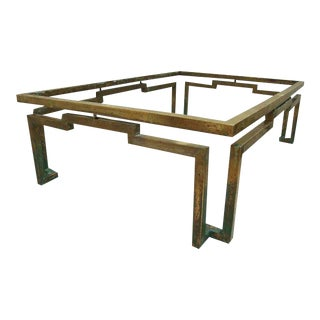 Arturo Pani Rectangular Coffee Table in Brass For Sale