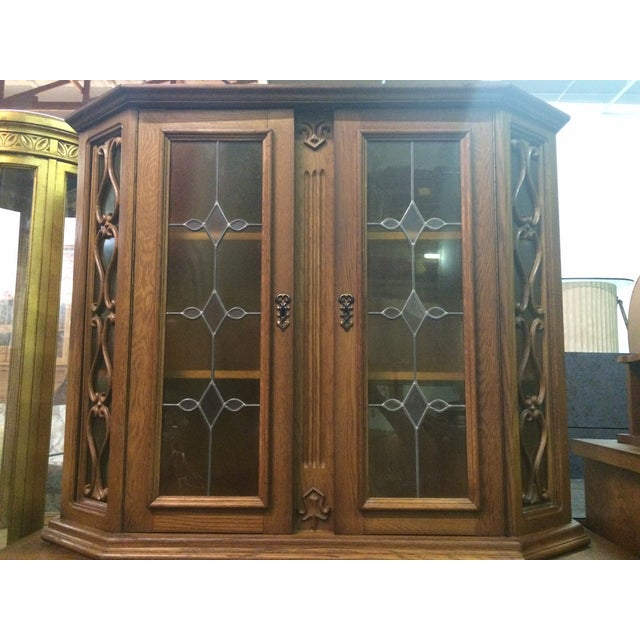Austrian Hand-Carved Antique China Cabinet - Image 4 of 8