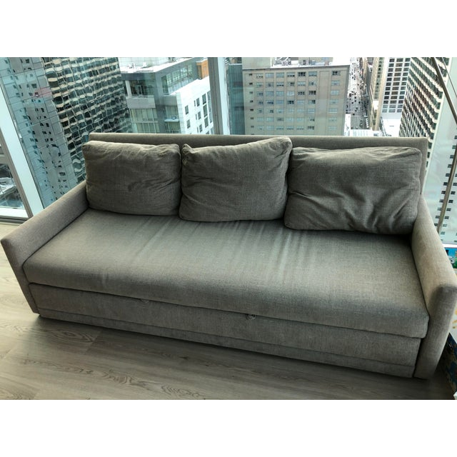 Modern Crate & Barrel Queen Sleeper Sofa For Sale In Chicago - Image 6 of 6