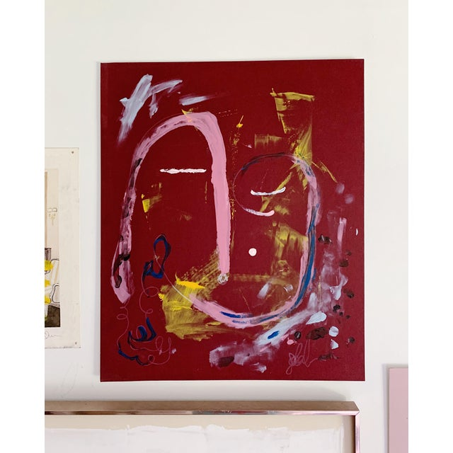 """""""Calm Dispenser"""" contemporary abstract acrylic painting. Painting is unframed."""