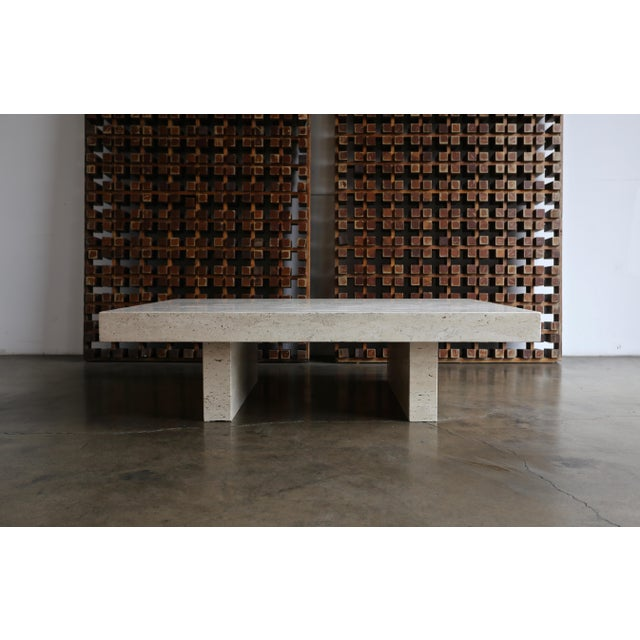 Travertine Coffee Table, Circa 1980 For Sale - Image 13 of 13