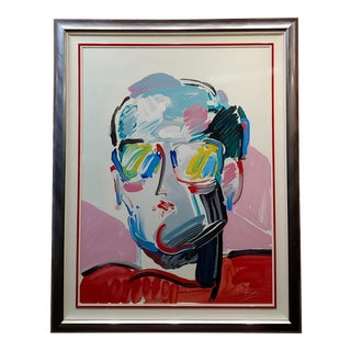 Peter Max -Portrait of Neo Man -Original Pop Art Serigraph For Sale