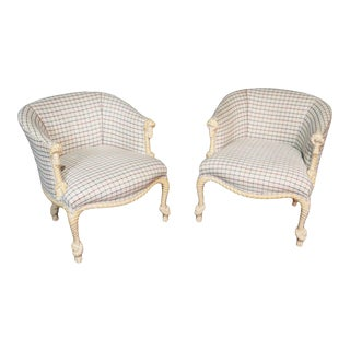 Pair of Modern Design Rope Twist Club Chairs For Sale
