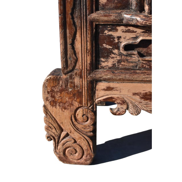 Wood 19th Century Antique Rustic Northern Chinese Cabinet For Sale - Image 7 of 13