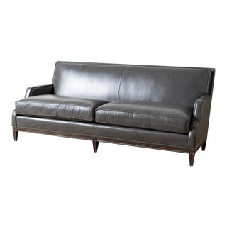 Modern Monroe Leather Sofa For Sale