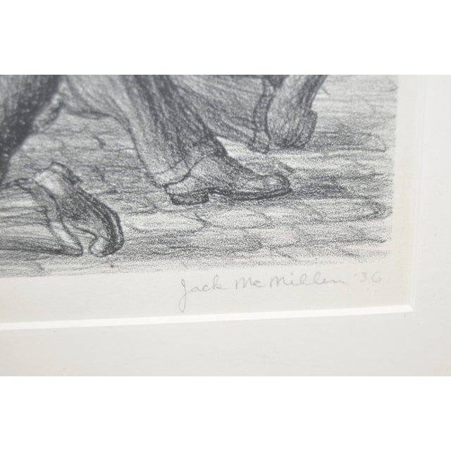 """Paper """"Controversy"""" Social Realism Pencil Signed Lithograph by Jack McMillen For Sale - Image 7 of 8"""