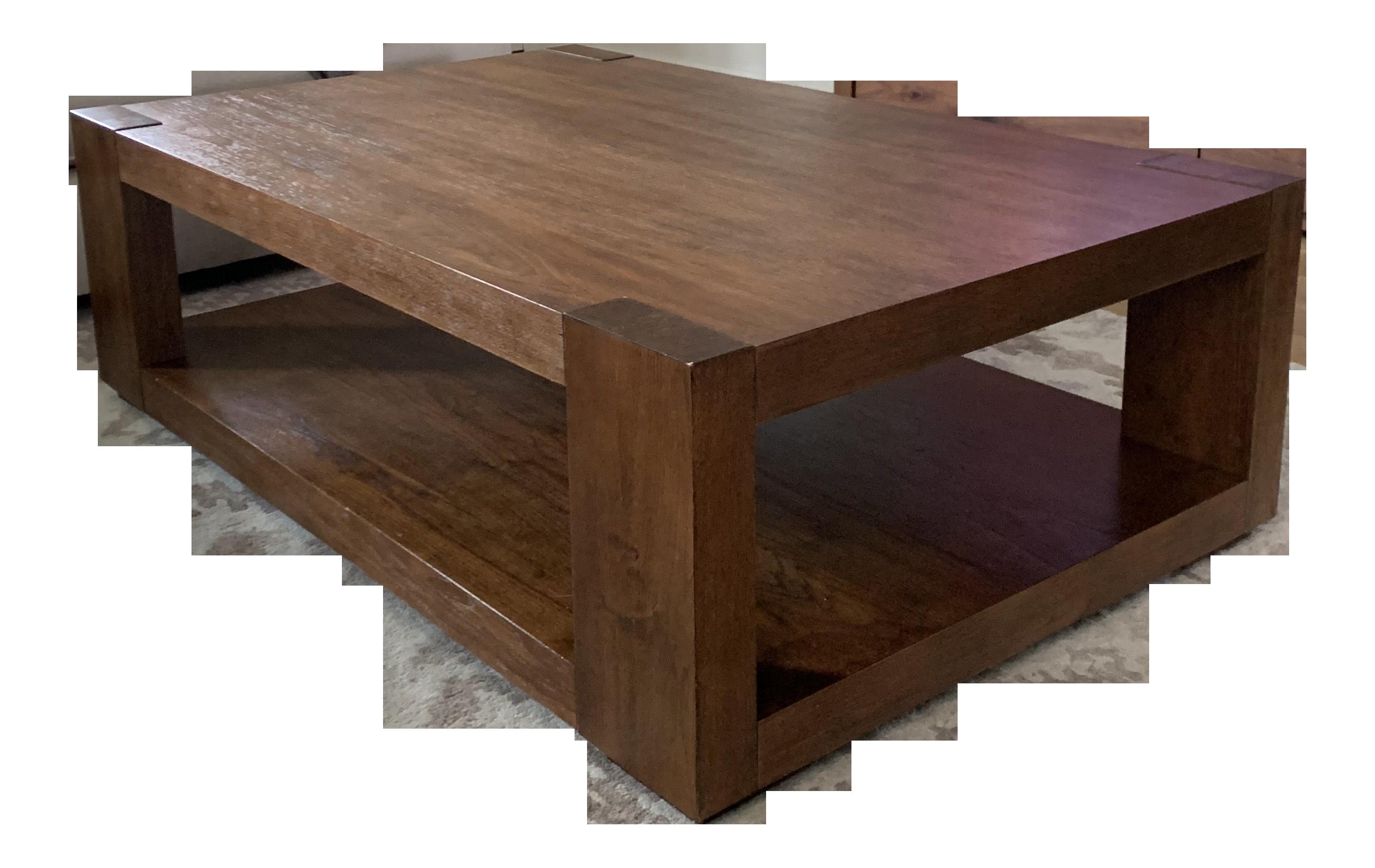 - Crate & Barrel Lodge Wood Coffee Table Chairish