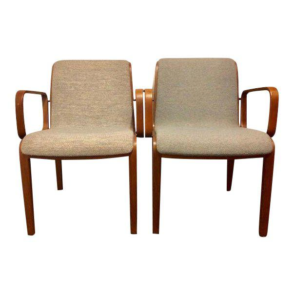 1980s Vintage Mid-Century Modern Bill Stephens for Knoll Chairs - A Pair For Sale - Image 12 of 12