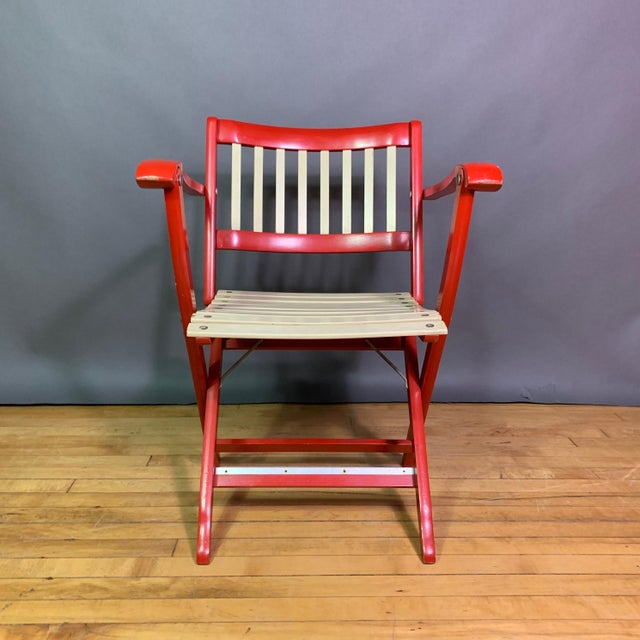 1960s Vintage Fratelli Reguitti Lacquered Folding Chairs- a Pair For Sale - Image 9 of 13