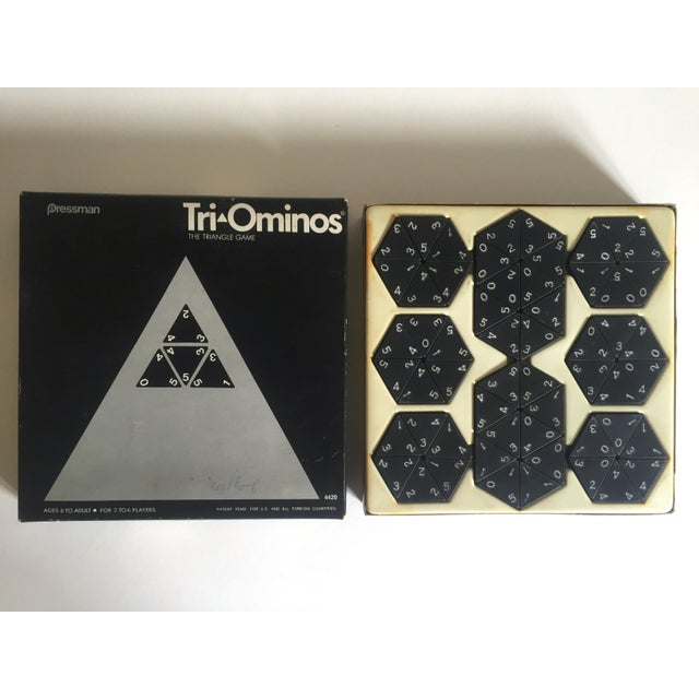 "This vintage 1970's Pressman "" Tri Ominoes "" game complete set with original box is a very special, cool game to add to..."