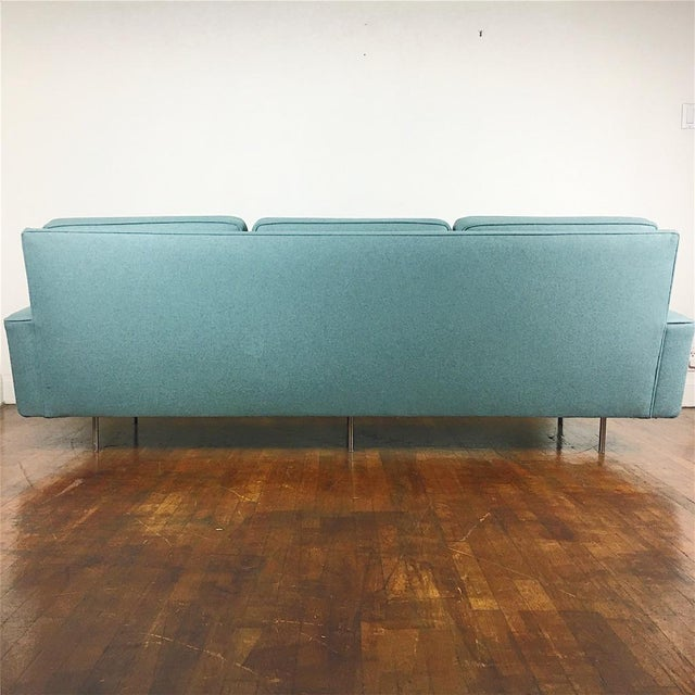 Blue Florence Knoll Sofa For Sale - Image 11 of 11
