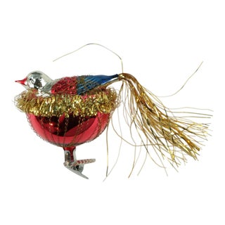 Nesting Bird Blown Glass Ornament For Sale