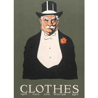1916 Original American Haberdashery Advertisement, Clothes For Sale