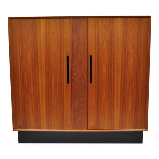 Westnofa Norway Danish Modern Teak Tall Chest Dresser Wardrobe For Sale