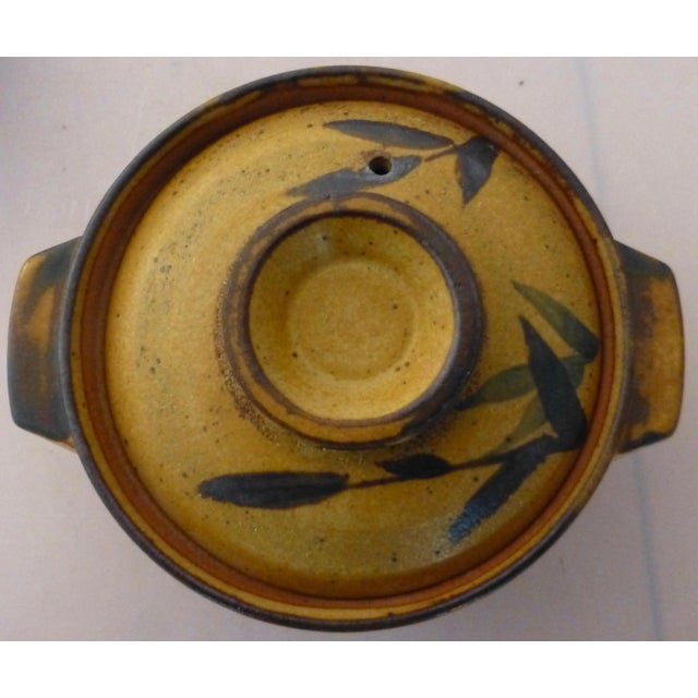 Chinoiserie Inspired Studio Pottery Covered Soup Bowls ~ Set of Five For Sale - Image 4 of 13