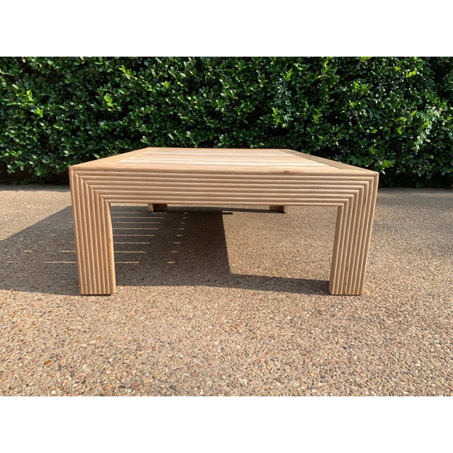 Modern Transitional John Hutton for Sutherland Reeded Rectangular Coffee Table For Sale - Image 3 of 9