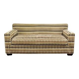 Mid Century Modern Baughman Style Loveseat Sofa 1970s Lenor Larsen Style For Sale
