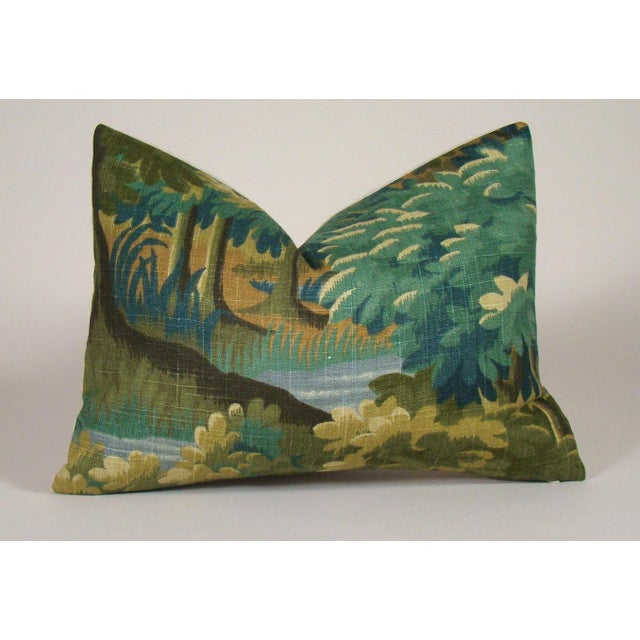 Verdure Print Linen Lumbar Pillow Cover For Sale - Image 10 of 10