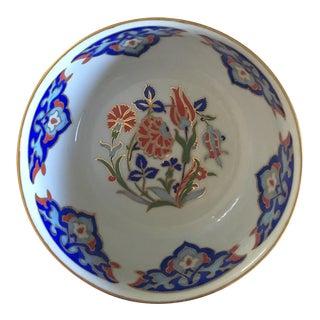 "Ottoman Design Turkish Ceramic Bowl From ""Chez Galip"" For Sale"