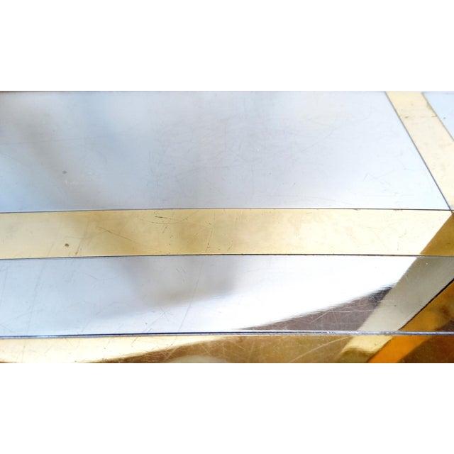 Gold 1970's Chrome & Brass Modernist Desk Lamp For Sale - Image 8 of 9
